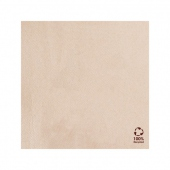 Serviette Double Point® 20x20cm cocktail Beige FEEL GREEN - Carton de 2400 unités