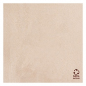 Serviette Double Point® 33x33cm Beige FEEL GREEN - Carton de 1200 unités
