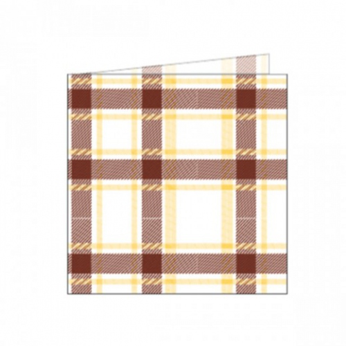 Serviette non tissée Like-Linen 40x40 cm SCOTTISH MARRON - carton de 600 unités