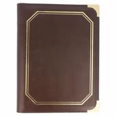 Protège menu MARRON simili cuir format A5