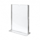 Porte menu vertical 14.8 x 21 cm (A5) - pack de 20