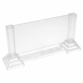 Porte menu colonne horizontal 15 x 8 cm - pack de 30