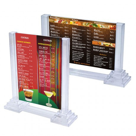 Porte menu colonne horizontal 22 x 10 cm - pack de 30