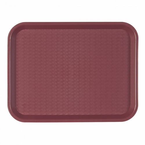 Plateau fast food 27.5 x 35.5 cm BORDEAUX