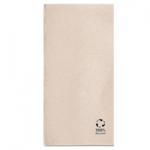 Serviette Double Point® 40x40cm pliage 1/8 Beige FEEL GREEN - Carton de 1300 unités