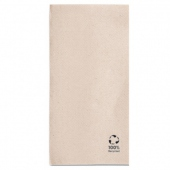 Serviette Double Point® 40x40cm pliage 1/8 Beige FEEL GREEN - Carton de 1200 unités