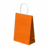 Sac SOS avec anse 20+10x29cm Orange- Cellulose 80g/m2-  Pack de 250