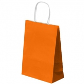 Sac SOS avec anse 26+14x32cm Orange - Cellulose 80g/m2-  Pack de 250