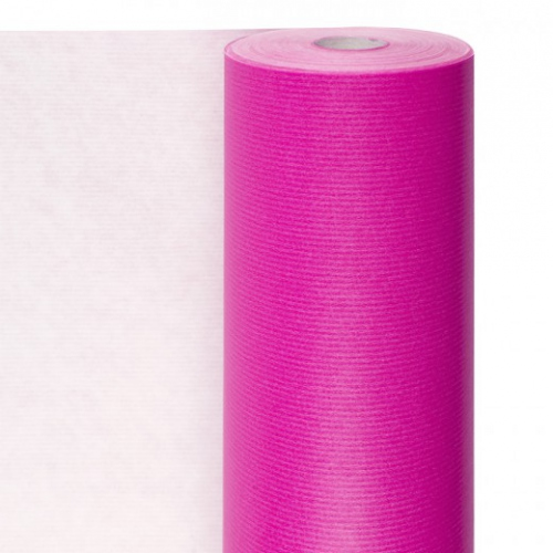 Rouleau papier emballage 0.7x100m Rose - Cellulose 60g/m2