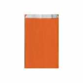 Sachet plat 12+5x18cm Orange - Cellulose 60g/m2-  Pack de 250