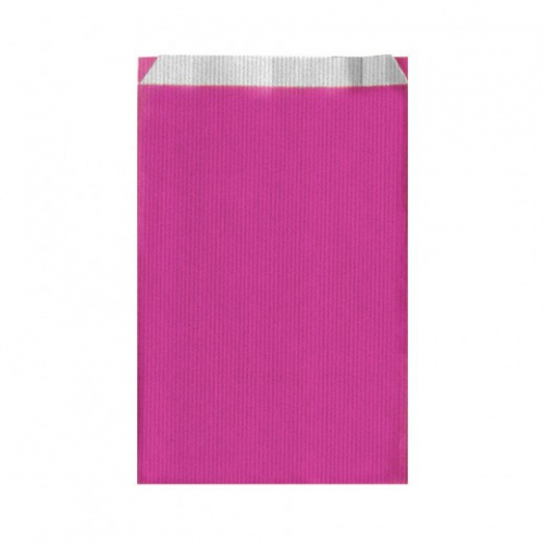 Sachet plat 19+8x35cm Rose - Cellulose 60g/m2-  Pack de 250