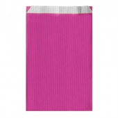 Sachet plat 26+9x46cm Rose- Cellulose 60g/m2-  Pack de 250