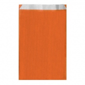 Sachet plat 26+9x46cm Orange- Cellulose 60g/m2-  Pack de 250