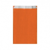 Sachet plat 19+8x35cm Orange - Cellulose 60g/m2-  Pack de 250
