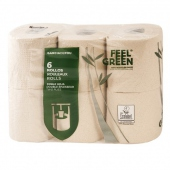 Papier hygiénique Feel Green en rouleau - Papier recyclé - 14 pack de 6