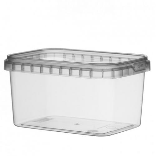 Pots inviolables rectangulaires - 12x8.8x6.9cm - 425ml - pack de 368 unités