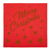 Serviette Double Point® MERRY CHRISTMAS 40x40 cm - Carton de 1200 unités