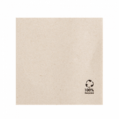 Serviette Double Point® 25x25cm cocktail Beige FEEL GREEN - Carton de 3000 unités