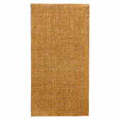Serviette Double Point® 40x40cm pliage 1/8 Toile de Jute FEEL GREEN - Carton de 600 unités