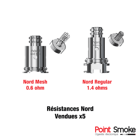 Résistances Nord Regular et Meshed de Smoktech