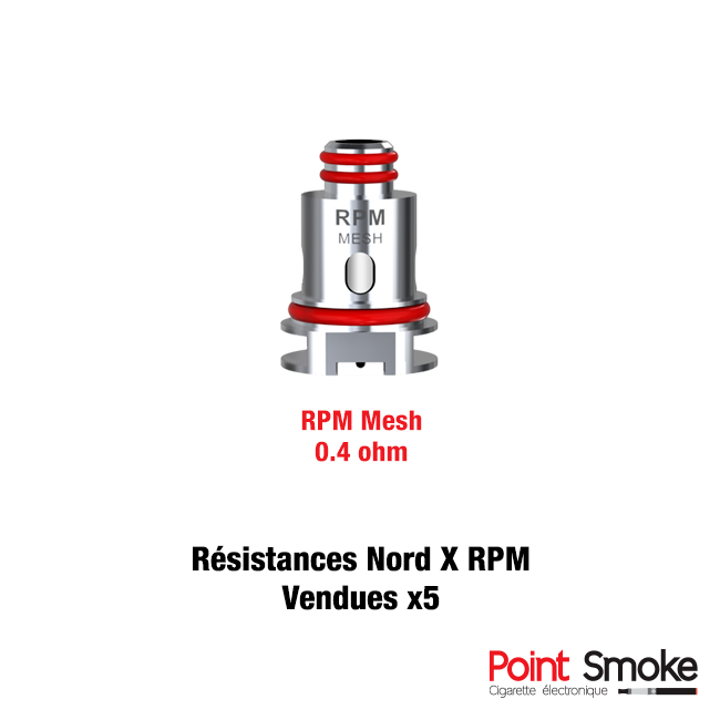 Résistances RPM mesh de Smoktech