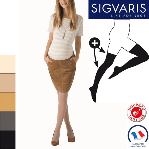 Bas de contention Sigvaris Essentiel Semi-transparent (Diaphane) Morpho Plus