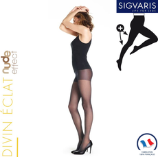 Collant contention Sigvaris Styles Transparent (Divin Eclat) Morpho Plus Classe 2
