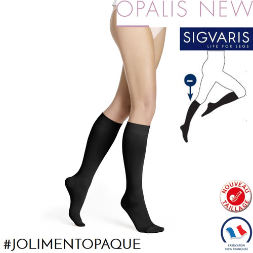 Chaussettes contention Styles Opaque (Opalis) Morpho Moins Sigvaris
