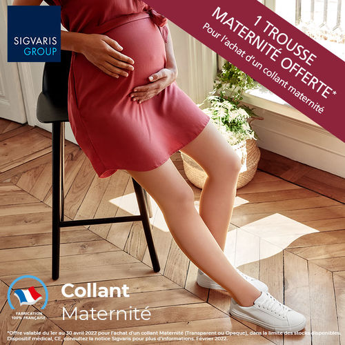Collant de maternité transparent Sigvaris Classe 2