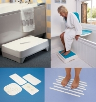 Tapis antidérapant & Marche pied