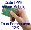 Remboursement 12€ CPAM