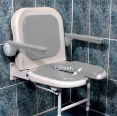 Chaise de douche murale fortissimo assise anatomique