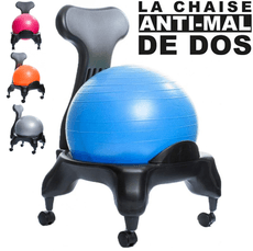 Chaise Ergo Ball Anti Mal de Dos