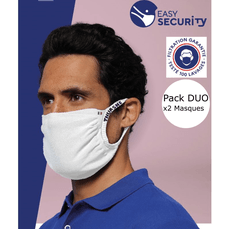 Pack DUO Masques barrière lavable Easy Security Thuasne