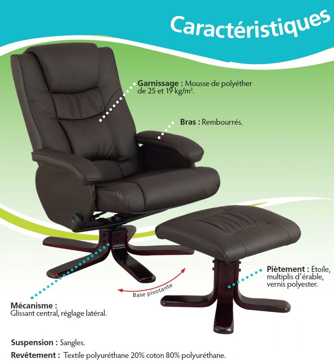 Fauteuil relax inclinable sherpa - Fauteuil relax d occasion ...