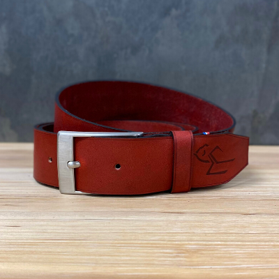 Ceinture Rectangle Rouge
