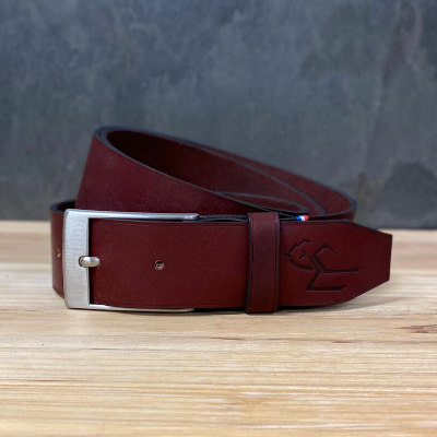 Ceinture Rectangle Bordeaux