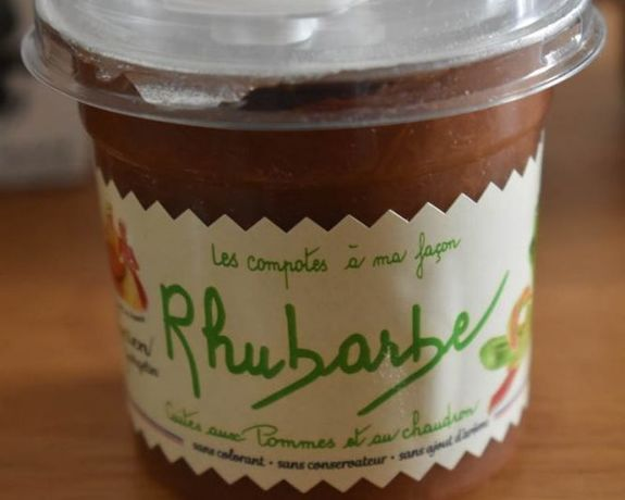 Compote POmme Rhubarbe