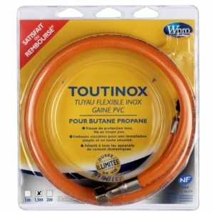 TUYAU FLEXIBLE INOX GAINE PVC WPRO 1.5 M