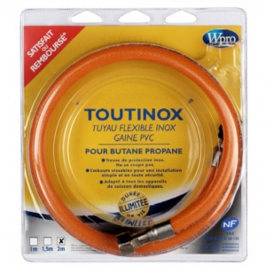 TUYAU FLEXIBLE INOX GAINE PVC WPRO 1.5 M TNV156