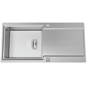 Evier duo inox sublime subl10gc mitigeur achat prix for Grand evier inox