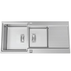 Evier duo inox sublime subl20 mitigeur achat prix for Evier non encastrable