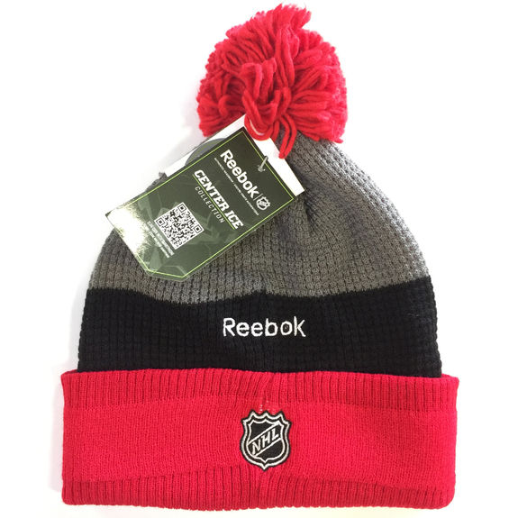 Bonnet NHL Detroit Red Wings pompon