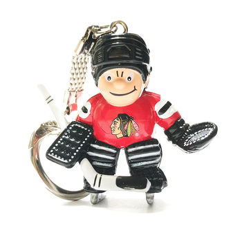 Porte clef NHL gardien Blackhawks Chicago