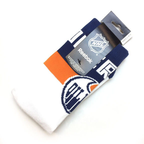 Chaussettes NHL Edmonton Oilers blanches