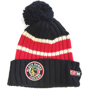 Bonnet NHL Chicago Blackhawks Vintage pompon