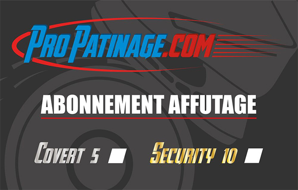 Carte abonnement affutage Pro Patinage