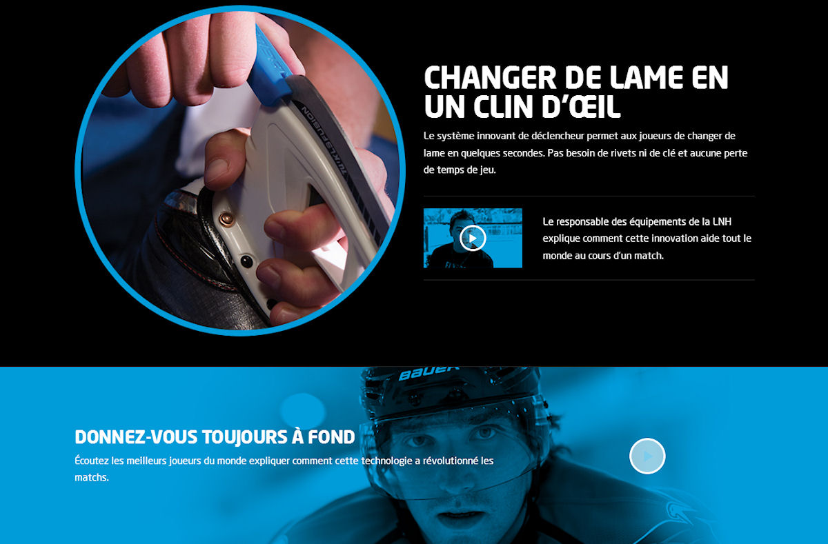 Bauer Lightspeed Edge changer de lame