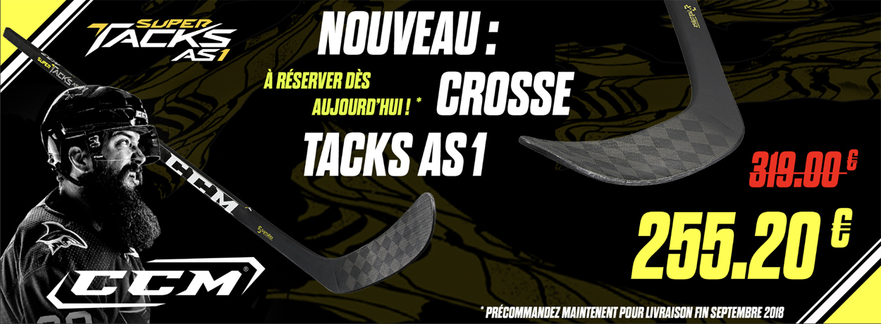 Crosse CCM Tacks AS1 en promo Pro Patinage