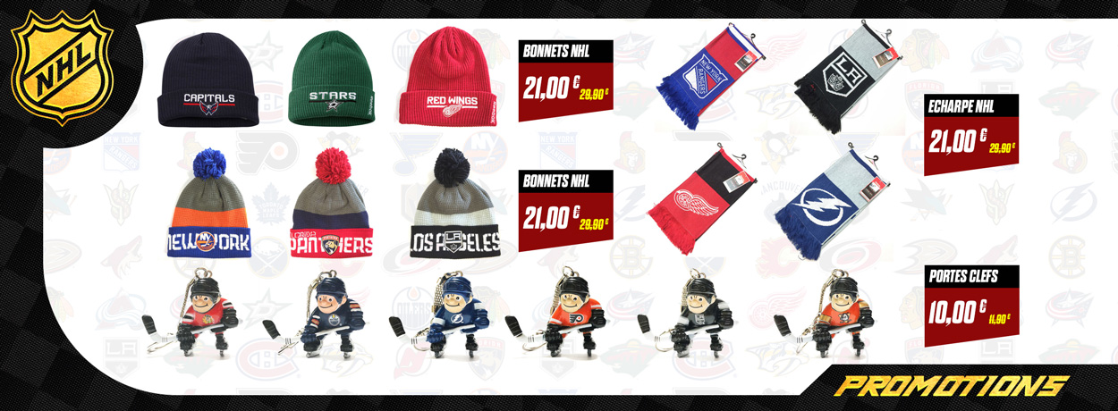 Bonnets, porte clefs NHL Pro Patinage